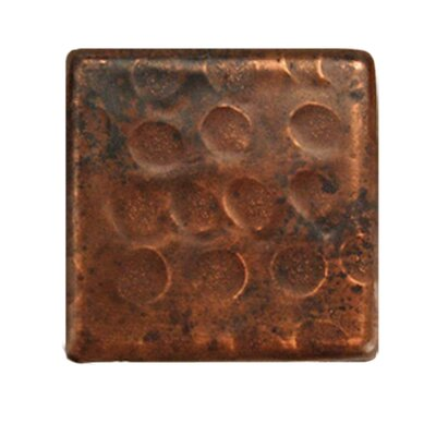 2 x 2 Hammered Copper Tile in Oil Rubbed Bronze