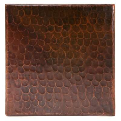 6 x 6 Hammered Copper Tile in Oil Rubbed Bronze