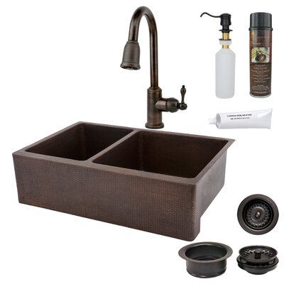 33 x 22 Hammered Apron Kitchen Sink