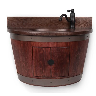 28 Single Wine Barrel Vanity Set Base Finish: Cabernet