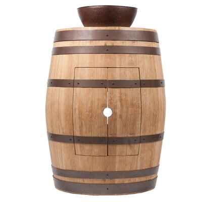 28 Single Wine Barrel Vanity Set Base Finish: Natural