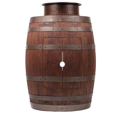 28 Single Wine Barrel Vanity Set Base Finish: Whiskey