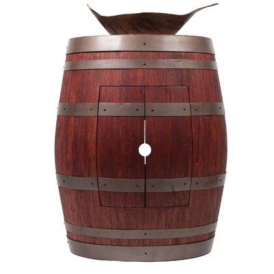 28 Single Wine Barrel Vanity Set Base Finish: Cabernet