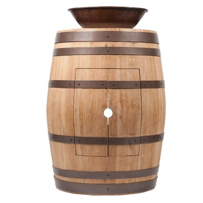 28 Single Wine Barrel Vanity Set Base Finish: Natural