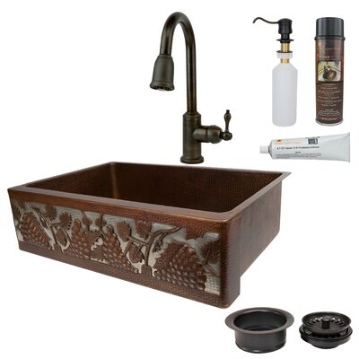 33 x 22 Single Bowl Apron Kitchen Sink with Faucet