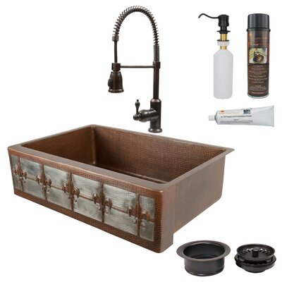 33 x 22 Single Bowl Apron Kitchen Sink with Faucet