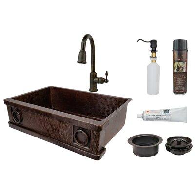 33 x 22 Farmhouse/Apron Kitchen Sink with Faucet