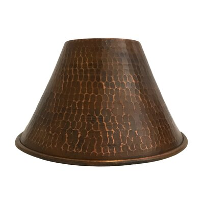 Hand Hammered Cone Pendant Light 7 Metal Empire Lamp Shade