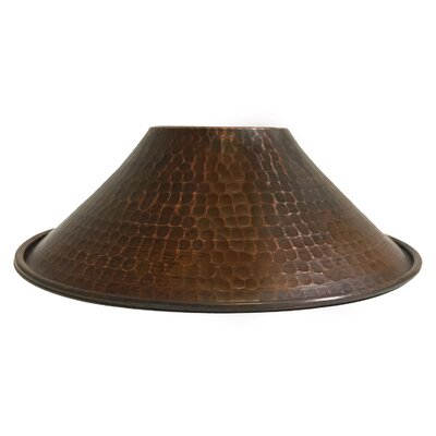 Hand Hammered Cone Pendant Light 9 Metal Empire Lamp Shade