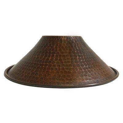 Hand Hammered Cone Pendant Light 9 Metal Empire Lamp Shade