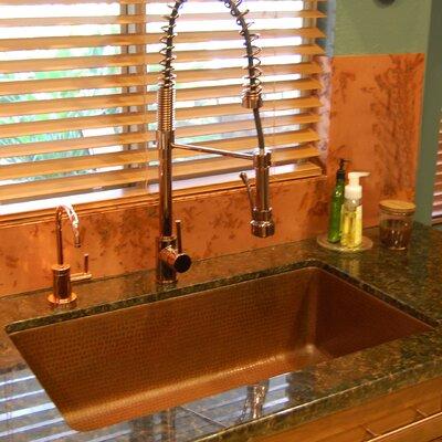 33 x 19 Antique Hammered Single Bowl Kitchen Sink