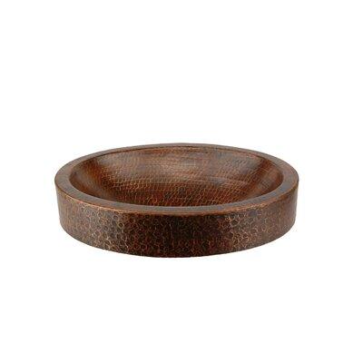 Compact Skirted Metal Oval Vessel Bathroom Sink