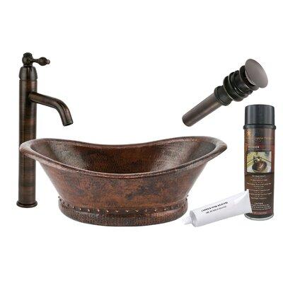 Metal Oval Vessel Bathroom Sink with Faucet