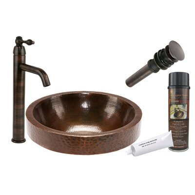 Skirted Circular Vessel Bathroom Sink