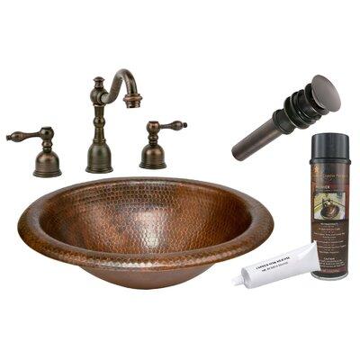 Wide Rim Metal Oval Drop-In Bathroom Sink with Faucet