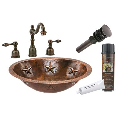 Star Metal Oval Undermount Bathroom Sink with Faucet