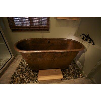 Hammered copper slipper bathtub for Best soaker tub for the money