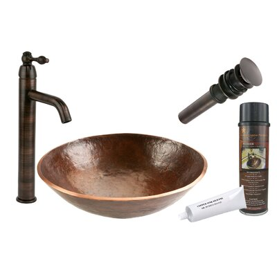 Old World Hand Forged Circular Vessel Bathroom Sink