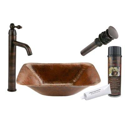 Old World Hand Forged Rectangular Vessel Bathroom Sink
