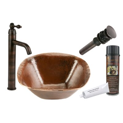 Old World Hand Forged Square Vessel Bathroom Sink