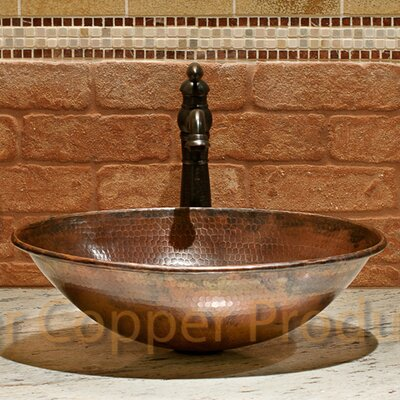 Wired Rimmed Metal Oval Vessel Bathroom Sink