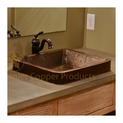 Skirted Metal Rectangular Vessel Bathroom Sink