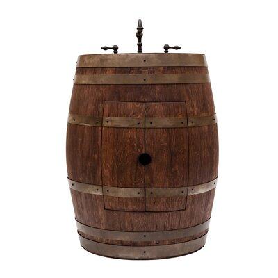 28 Single Wine Barrel Bathroom Vanity Set Base Finish: Whiskey