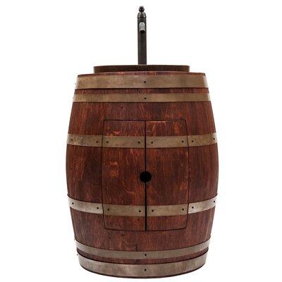 28 Single Wine Barrel Bathroom Vanity Set Base Finish: Cabernet