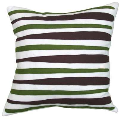Moris Linen Throw Pillow Color: Off-White Flannel Fabric in Brook/Loden