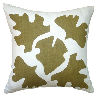 Hand Printed Shade Linen Throw Pillow Color: Sand