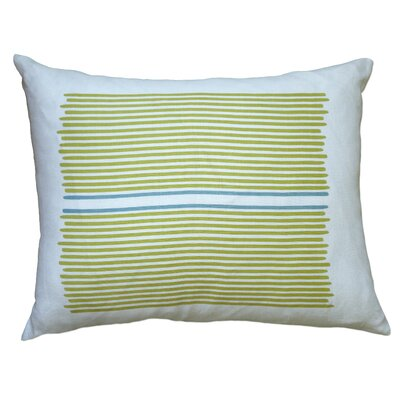 Louis Stripe Linen Lumbar Pillow Color: Yellow / Blue Stripe