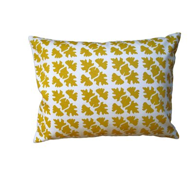 Shade Check Cotton Throw Pillow Size: 14 H x 18 W, Color: Mustard