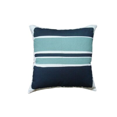 Block Linen Throw Pillow Color: Teal
