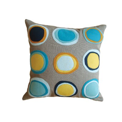 Mona Linen Throw Pillow Color: Blue/yellow