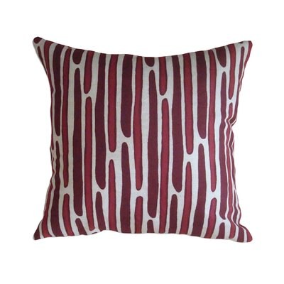 Morris Hand Printed Throw Pillow Color: Red