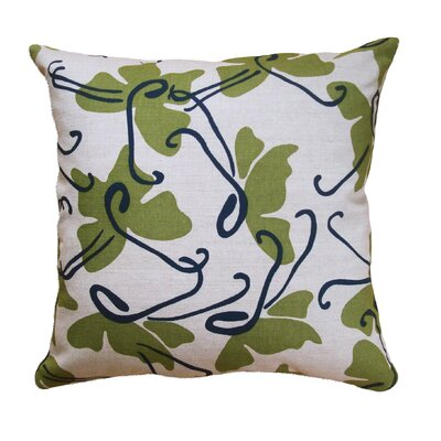 Butterfly Throw Pillow Color: Moss