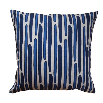 Morris Hand Printed Throw Pillow Color: Blue