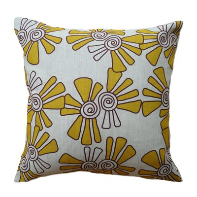 Natural Throw Pillow Size: 22 H x 22 W