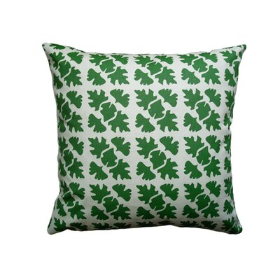 Hand Printed Shade Check Cotton Throw Pillow Size: 22 x 22