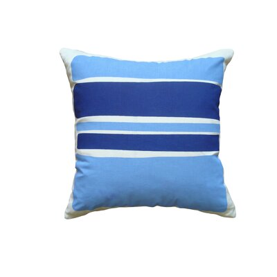 Block Linen Throw Pillow Color: Cobalt