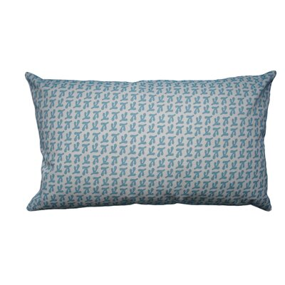 Hand Printed Birds Feet Cotton Throw Pillow Size: 14 H x 18 W, Color: Coastal Blue