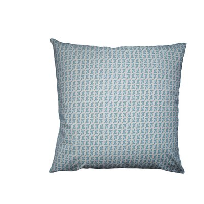 Hand Printed Birds Feet Cotton Throw Pillow Size: 16 H x 16 W, Color: Coastal Blue