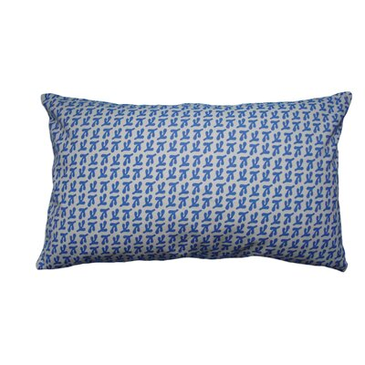 Hand Printed Birds Feet Cotton Throw Pillow Size: 12 H x 20 W, Color: Cornflower