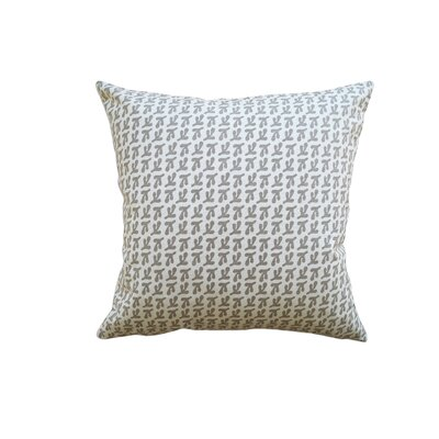 Hand Printed Birds Feet Cotton Throw Pillow Size: 22 H x 22 W, Color: Pewter
