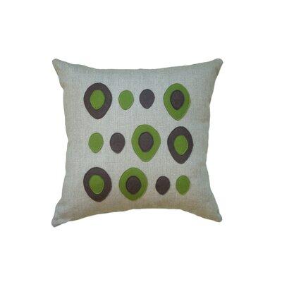 Applique Eggs Linen Throw Pillow Color: Oatmeal Linen Fabric in Chocolate/Moss
