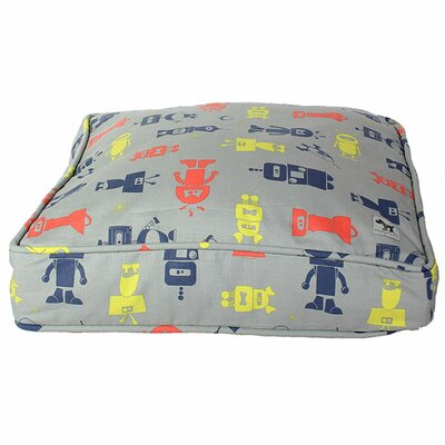 I Am Not A Robot Dog Bed Cover Size: Medium (36 W x 27 D)
