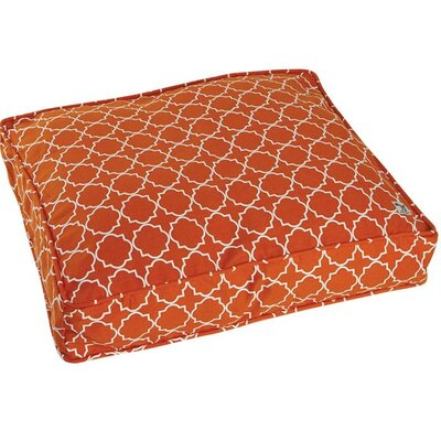Title Track Dog Pillow Cover Color: Orange, Size: Large (45 W x 36 D)