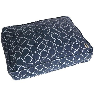 Title Track Dog Pillow Cover Color: Navy, Size: Large (45 W x 36 D)