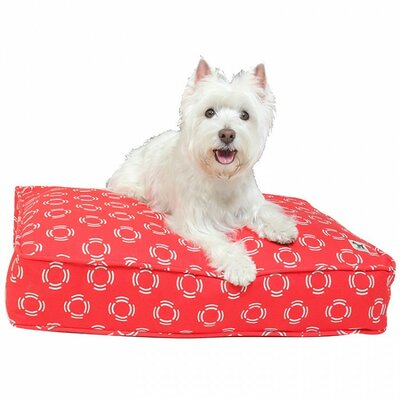 Lady in Red Dog Bed Cover Size: Large (45 W x 36 D)