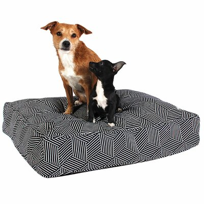 Your Hand in Mine Dog Pillow Size: Large (45 W x 36 D)